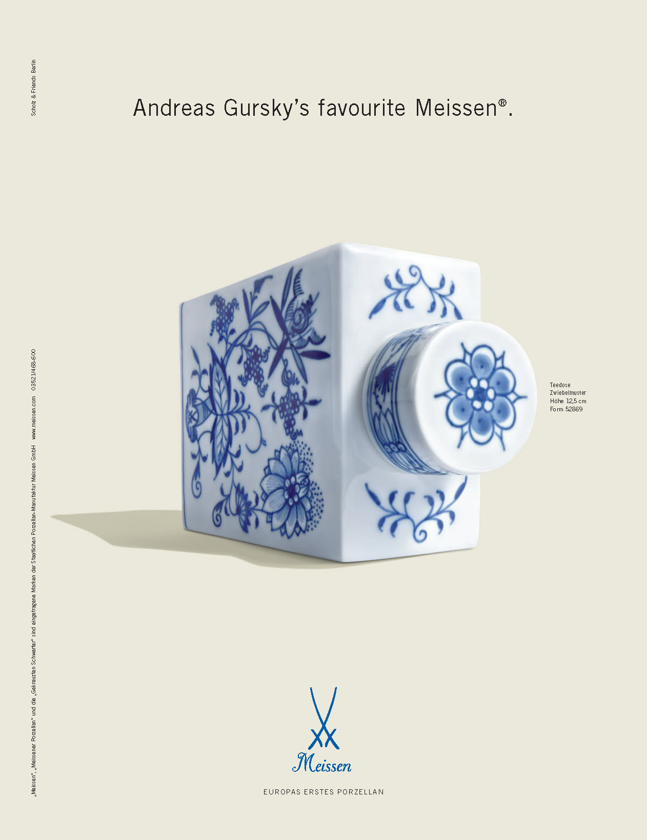 Andreas Gursky's favourite Meissen.